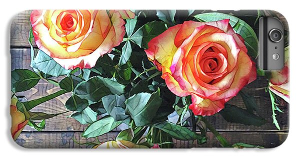 Peach iPhone 7 Plus Case - Wood And Roses by Shadia Derbyshire