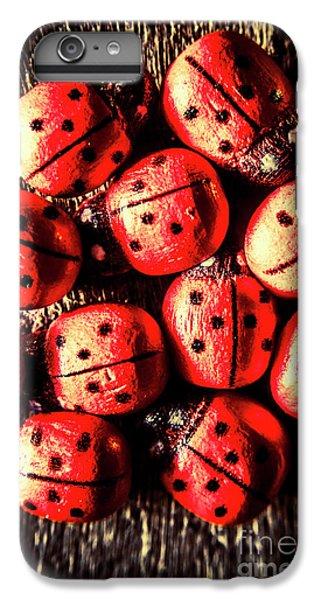 Ladybug iPhone 7 Plus Case - Wooden Beetle Bugs by Jorgo Photography - Wall Art Gallery