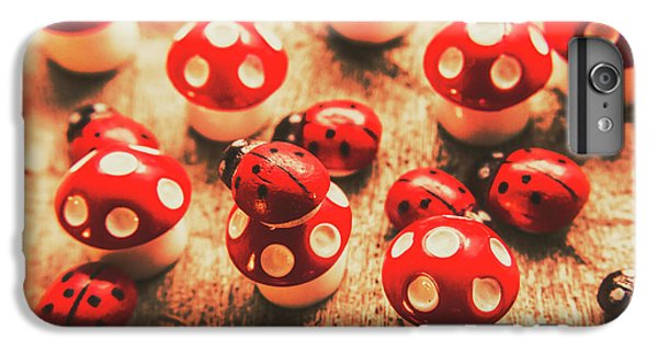 Ladybug iPhone 7 Plus Case - Wooden Bugs And Plastic Toadstools by Jorgo Photography - Wall Art Gallery