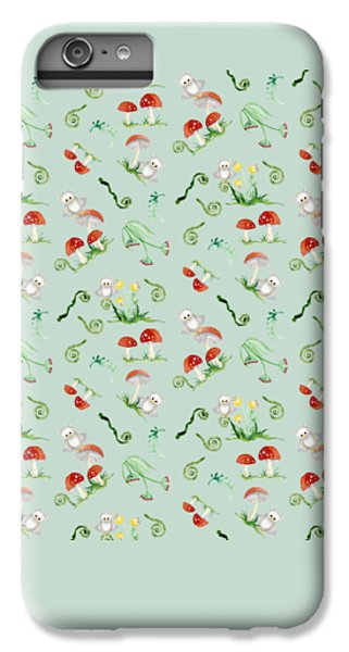 Woodland Fairy Tale - Red Mushrooms N Owls IPhone 7 Plus Case by Audrey Jeanne Roberts