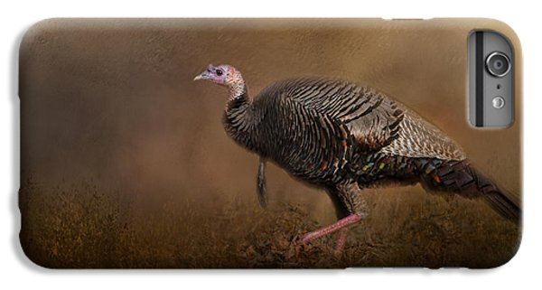 Woodland Walk - Wild Turkey Art IPhone 7 Plus Case by Jai Johnson
