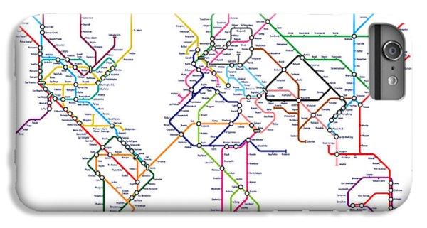 World Metro Tube Map IPhone 7 Plus Case by Michael Tompsett