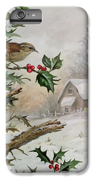 Wren In Hollybush By A Cottage IPhone 7 Plus Case by Carl Donner