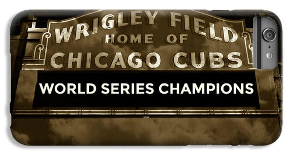 Wrigley Field iPhone 7 Plus Case - Wrigley Field Sign - Vintage by Stephen Stookey