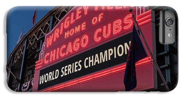 Wrigley Field World Series Marquee IPhone 7 Plus Case by Steve Gadomski