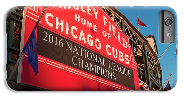 Wrigley Field iPhone 7 Plus Case - Wrigley Field Marquee Angle by Steve Gadomski