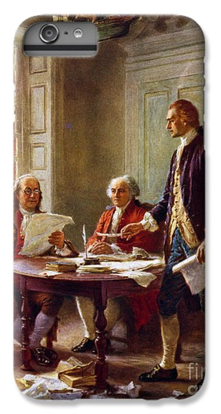 Thomas Jefferson iPhone 7 Plus Case - Writing The Declaration Of Independence, 1776, by Leon Gerome Ferris