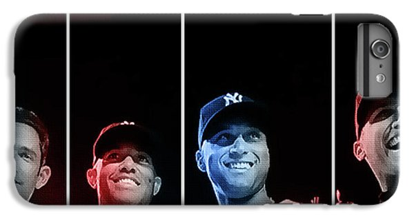 Derek Jeter iPhone 7 Plus Case - Yankee Core Four By Gbs by Anibal Diaz