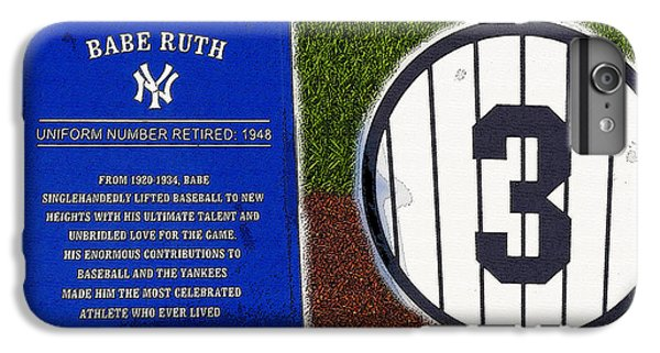 Yankee Legends Number 3 IPhone 7 Plus Case by David Lee Thompson