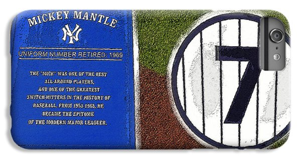 Yankee Legends Number 7 IPhone 7 Plus Case by David Lee Thompson