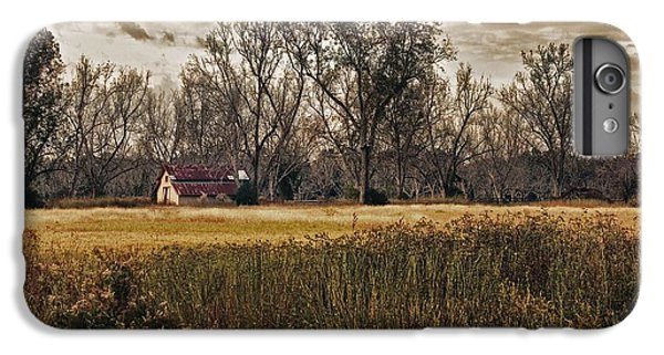 Shrimp Boats iPhone 7 Plus Case - Yellow Barn And The Field by Michael Thomas