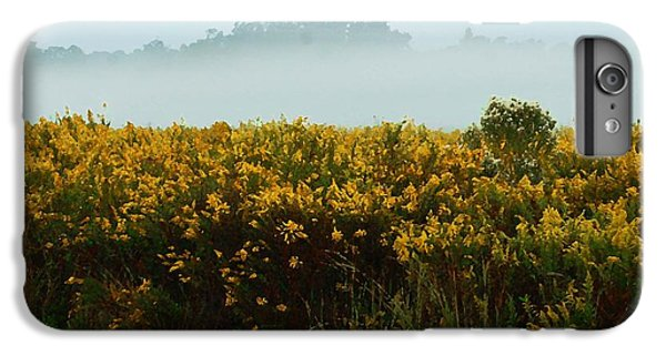 Shrimp Boats iPhone 7 Plus Case - Yellow Field And The Fog by Michael Thomas