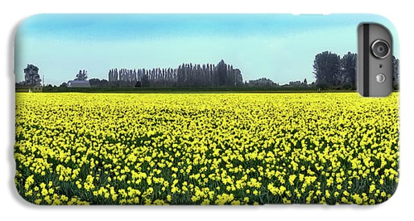 Yellow Tulip Fields IPhone 7 Plus Case by David Patterson