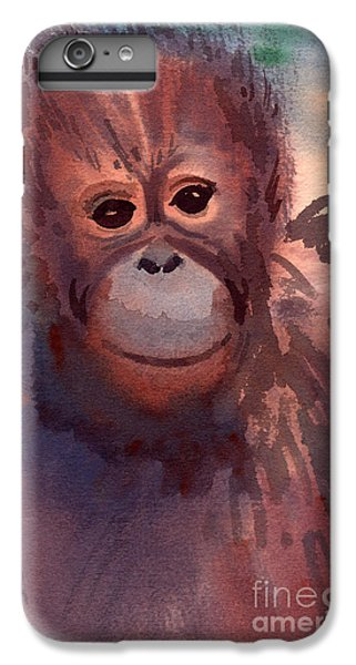 Orangutan iPhone 7 Plus Case - Young Orangutan by Donald Maier