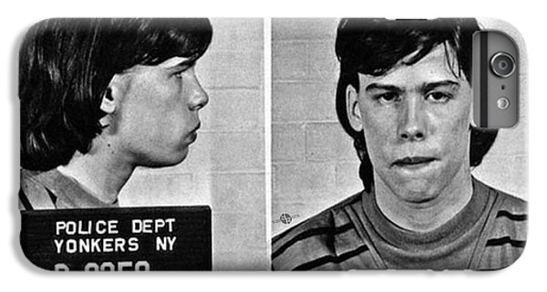 Young Steven Tyler Mug Shot 1963 Pencil Photograph Black And White IPhone 7 Plus Case by Tony Rubino