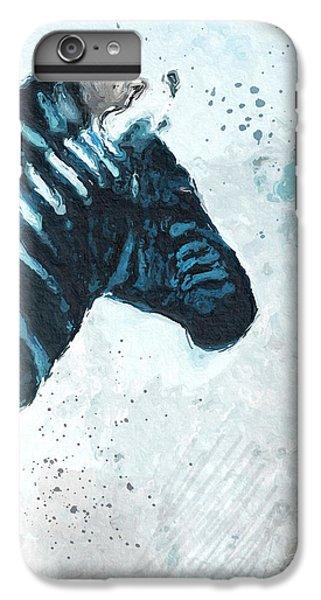 Zebra- Art By Linda Woods IPhone 7 Plus Case by Linda Woods