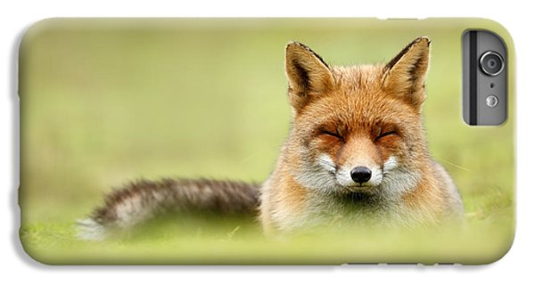 Zen Fox Series - Zen Fox In A Sea Of Green IPhone 7 Plus Case by Roeselien Raimond