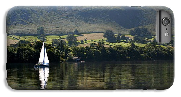 Sailboat iPhone 7 Plus Case - Sailboat On Ullswater In The Lake by Paul Banton
