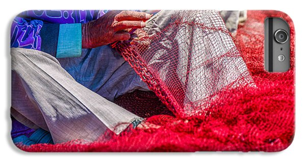 Craft iPhone 7 Plus Case - A Closeup To Fishermans Hands Sewing by Pixinoo