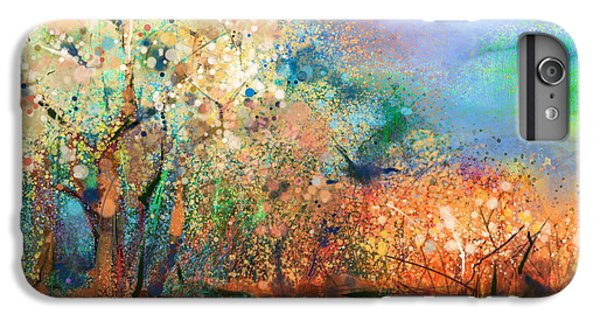 Craft iPhone 7 Plus Case - Abstract Colorful Landscape Painting by Pluie r