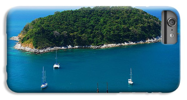 Ship iPhone 7 Plus Case - Aerial View Of Boat Near Phuket Island by Lkunl
