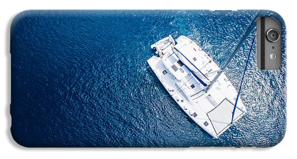 Sailboat iPhone 7 Plus Case - Amazing View To Yacht Sailing In Open by Im photo