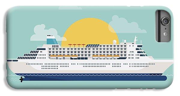 Ship iPhone 7 Plus Case - Beautiful Detailed Modern Flat Design by Mascha Tace