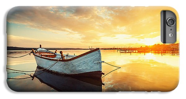 Sailboat iPhone 7 Plus Case - Boat On Lake With A Reflection In The by Valentin Valkov