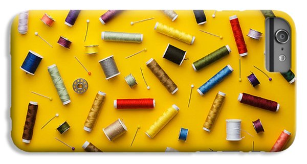 Craft iPhone 7 Plus Case - Colorful Thread Spools Disorganized by Bogdandimages