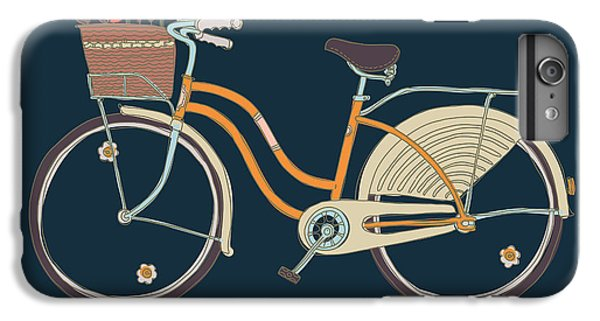 Craft iPhone 7 Plus Case - Cute Vector Retro Bicycle For Ladies by Mascha Tace