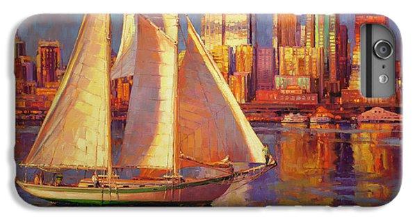 Sailboat iPhone 7 Plus Case - Emerald City Twilight by Steve Henderson