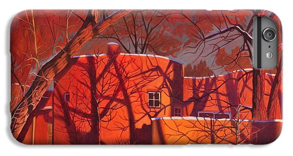 Red iPhone 7 Plus Case - Evening Shadows On A Round Taos House by Art West