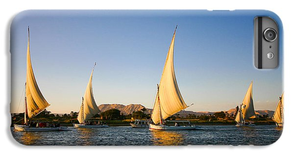 Sailboat iPhone 7 Plus Case - Felucca On The Nile River by Jeffrey Liao