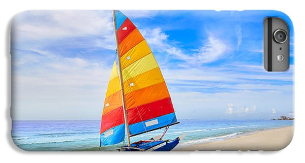 Sailboat iPhone 7 Plus Case - Florida Fort Myers Beach Catamaran by Lunamarina