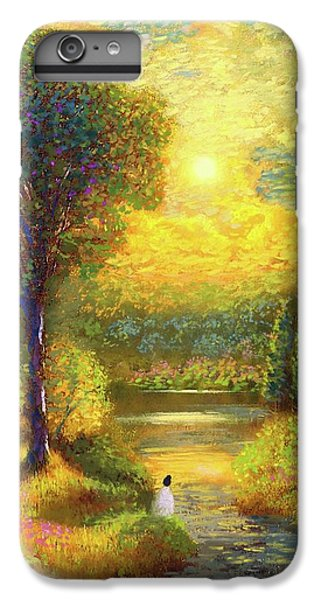 Figurative iPhone 7 Plus Case - Golden Peace by Jane Small