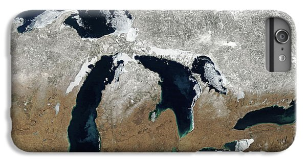 Lake Superior iPhone 7 Plus Case - Great Lakes In Winter by Delphimages Photo Creations