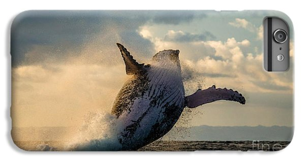 Marine iPhone 7 Plus Case - Humpback Whale Jump At Sunset Against A by Gudkov Andrey