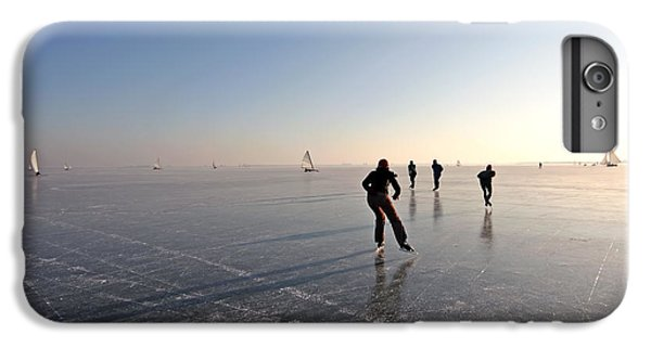 Sailboat iPhone 7 Plus Case - Ice Skating On The Gouwzee In The by Steve Photography