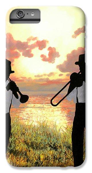 Trombone iPhone 7 Plus Case - Jazz Al Tramonto by Guido Borelli