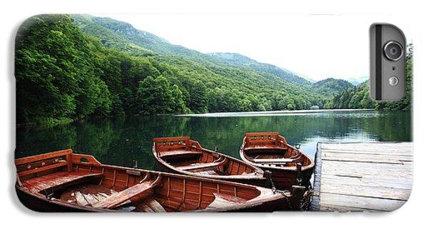 Ship iPhone 7 Plus Case - Landscape Bay Sea Boat Adventure by Kichigin