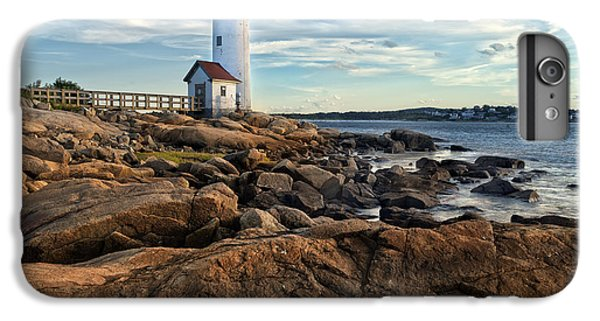 England iPhone 7 Plus Case - Lighthouse At Sunset Off Annisquam by Christian Delbert