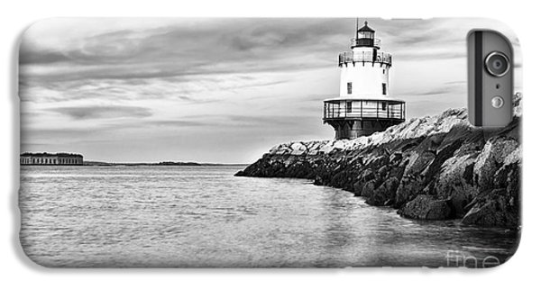 Ship iPhone 7 Plus Case - Lighthouse On Top Of A Rocky Island In by Stuart Monk