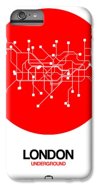 England iPhone 7 Plus Case - London Red Subway Map by Naxart Studio