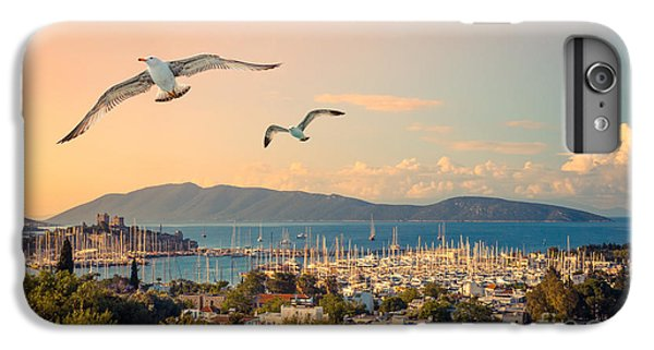 Sailboat iPhone 7 Plus Case - Marine Landscape With Yachts In A by Repina Valeriya