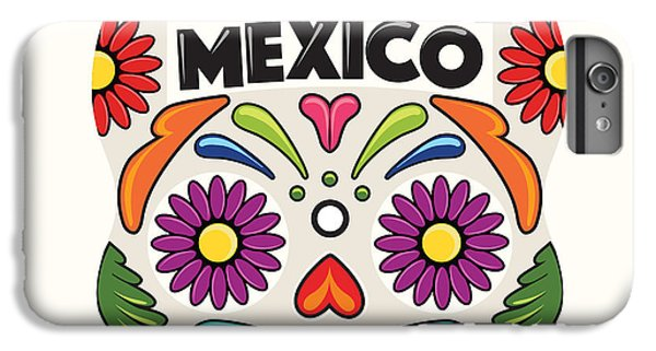 Craft iPhone 7 Plus Case - Mexican Holiday Skull by Akbaly