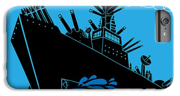 Warfare iPhone 7 Plus Case - Military Ship With Guns by Complot