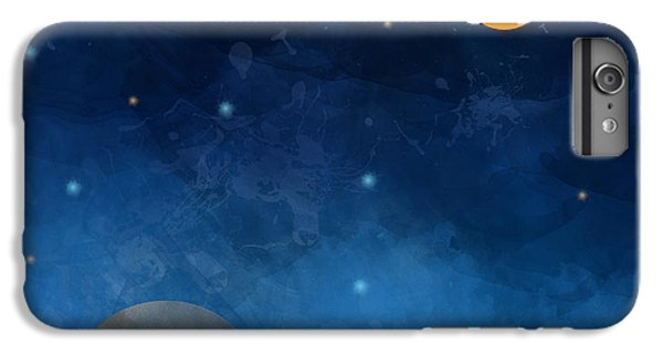 Craft iPhone 7 Plus Case - Night Sky,cloud, Moon And Star - Paper by Pluie r