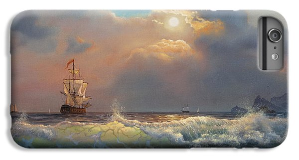Sailboat iPhone 7 Plus Case - Oil Painting On Canvas , Sailboat by Liliya Kulianionak