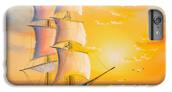 Ship iPhone 7 Plus Case - Oil Painting - Sailing Boat by Cyc