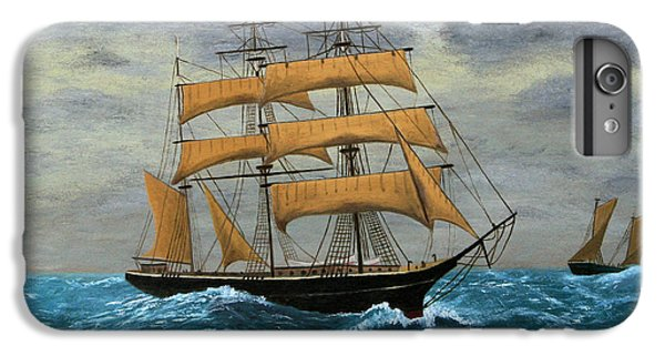 Sailboat iPhone 7 Plus Case - Original Artwork, Clipper Ships At Sea by Terracestudio